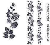 rose tattoo pattern....   Shutterstock .eps vector #1023235282
