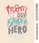 motivational quote in vector.... | Shutterstock .eps vector #1023245488