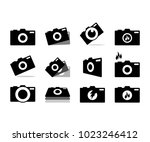 collection of camera... | Shutterstock .eps vector #1023246412