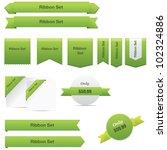 green ribbons set | Shutterstock .eps vector #102324886