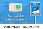 toll tag trip security iot...   Shutterstock .eps vector #1023250246