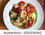 vegetarian bowl with chickpeas  ... | Shutterstock . vector #1023256342