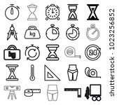 measure icons. set of 25... | Shutterstock .eps vector #1023256852