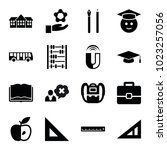 school icons. set of 16... | Shutterstock .eps vector #1023257056