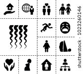 people icons. set of 13... | Shutterstock .eps vector #1023260146