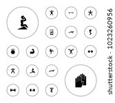 editable vector fit icons ... | Shutterstock .eps vector #1023260956