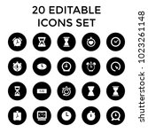 minute icons. set of 20... | Shutterstock .eps vector #1023261148