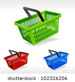 Vector shopping basket