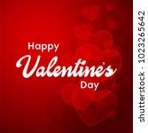 happy valentines day typography ...   Shutterstock .eps vector #1023265642