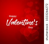 happy valentines day typography ... | Shutterstock .eps vector #1023266272