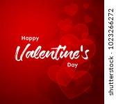 happy valentines day typography ... | Shutterstock .eps vector #1023266272