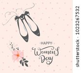 happy woman's day vector design ... | Shutterstock .eps vector #1023267532