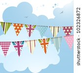 bunting background with union... | Shutterstock .eps vector #102326872