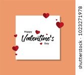 happy valentines day typography ... | Shutterstock .eps vector #1023271978