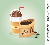 chocolate coffee  and coffee... | Shutterstock .eps vector #1023271996