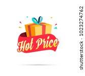 hot price shopping gift box | Shutterstock .eps vector #1023274762