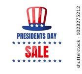 presidents day sale banner....   Shutterstock .eps vector #1023275212