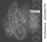 cycling sport background.... | Shutterstock .eps vector #1023283702