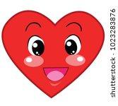the cartoon heart has many... | Shutterstock .eps vector #1023283876