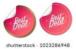best deal stickers | Shutterstock .eps vector #1023286948