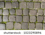 cobblestones ground in rome ... | Shutterstock . vector #1023290896