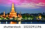 wat arun ratchawararam  a... | Shutterstock . vector #1023291196