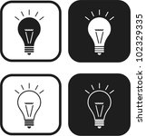 light bulb vector icon | Shutterstock .eps vector #102329335