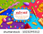 illustration of colorful happy... | Shutterstock .eps vector #1023295312