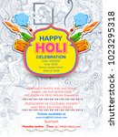 illustration of colorful happy... | Shutterstock .eps vector #1023295318