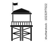 rescue tower icon. simple...   Shutterstock .eps vector #1023297022