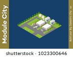 isometric city 3d airport... | Shutterstock .eps vector #1023300646