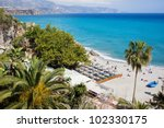 costa del sol beach in resort... | Shutterstock . vector #102330175
