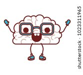 comic brain kawaii character | Shutterstock .eps vector #1023311965