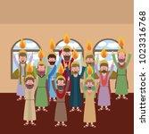 holy week biblical scene | Shutterstock .eps vector #1023316768