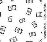 smartphone seamless pattern... | Shutterstock .eps vector #1023320686