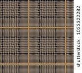 glen plaid vector pattern in... | Shutterstock .eps vector #1023322282