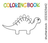cute dino coloring book. | Shutterstock .eps vector #1023325642
