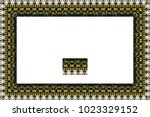 border or frame of abstract... | Shutterstock . vector #1023329152
