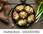 dish for dinner. tasty baked... | Shutterstock . vector #1023331582