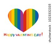 heart in rainbow colors for st. ... | Shutterstock .eps vector #1023332335