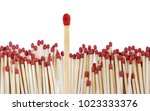 one match standing out from the ... | Shutterstock . vector #1023333376