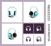 eps 10 vector headphones... | Shutterstock .eps vector #102333586