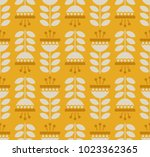 seamless retro pattern with... | Shutterstock .eps vector #1023362365