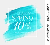 spring sale 10  off sign over...   Shutterstock .eps vector #1023363556