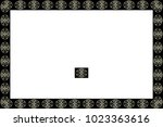 border or frame of abstract... | Shutterstock . vector #1023363616