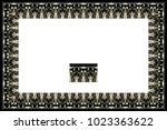 border or frame of abstract... | Shutterstock . vector #1023363622