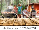 grill and landscape  | Shutterstock . vector #1023367768