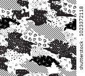 seamless geometric pattern of... | Shutterstock .eps vector #1023372118