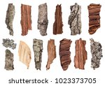 Set Of Pieces Of Wood  Bark And ...
