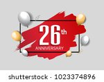 26th anniversary design with... | Shutterstock .eps vector #1023374896
